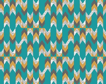 Indelible Stylus Text in Lagoon, Katarina Roccella, Art Gallery Fabrics, 100% Cotton Fabric, IDL-1221
