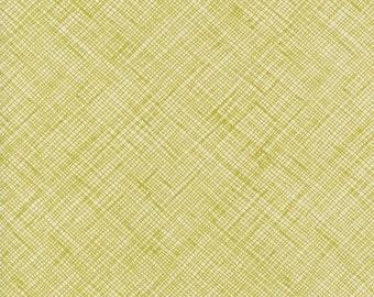 Architextures Crosshatch in Pickle, Carolyn Friedlander, Robert Kaufman Fabrics, 100% Cotton Fabric, AFR-13503-341 PICKLE
