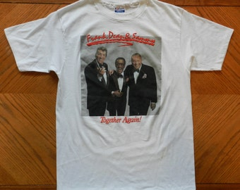 vintage Rat Pack T Shirt original 80s tee Sinatra Martin Davis Jr. 60s Crooners music tour Large