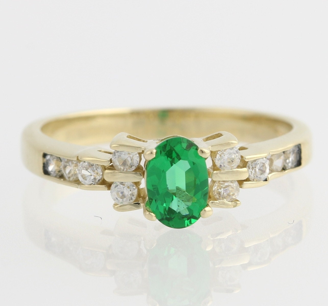 synthetic emerald cz engagement 14k by wilsonbrothers