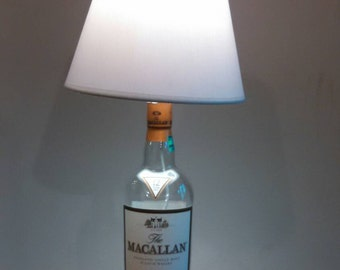 Macallan 12 year Scotch Lamp with Lamp Shade