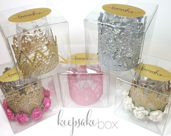 Keepsake box for Love Crush lace crown || gift box || storage box
