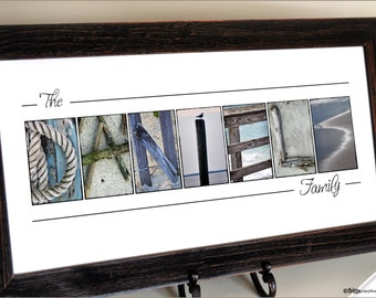 Alphabet Photography Beach Letters, Personalized Last Name Print, Beach and Nautical Letter Photography (unframed)