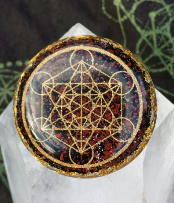Metatron cube orgone pendant like this item mozeypictures Choice Image