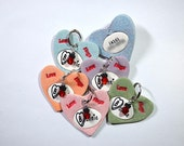 Valentine Candy Hearts Pet Tag / Dog Tag