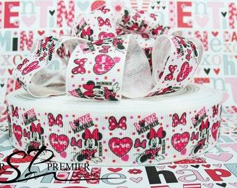 "1""  Valentines Heart Grosgrain Ribbon"