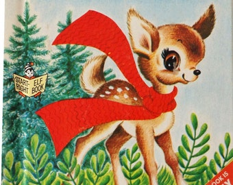 Vintage Book Davy Deers's New Red Scarf 1950s