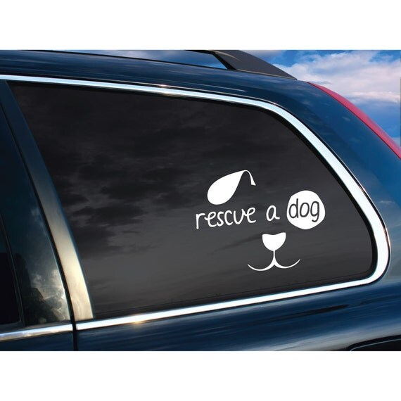 Best Dog Rescue Dog Vinyl Car Decal 2017 2018 Best