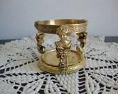 Stylebuilt Vanity Cup * Candle Holder* Gold Plated Holder * Hollywood Regency