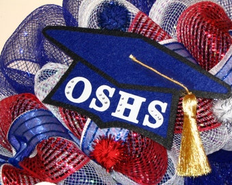 Decorative Felt Graduation Cap in your School Colors