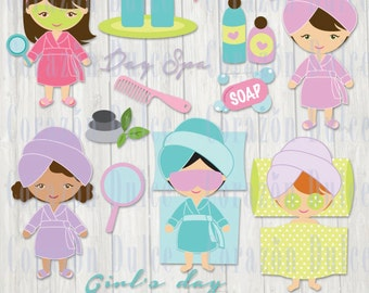 Day spa Personal and Commercial Use Clip Art-INSTANT DOWNLOAD-