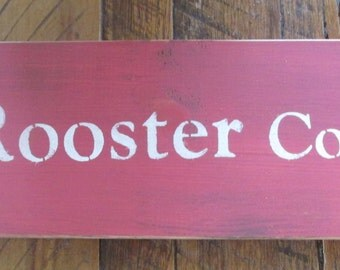 Primitive Rustic Farmhouse Rooster Sign