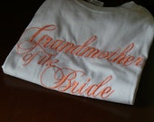 Bridal Party T-Shirts,  Coral Wedding