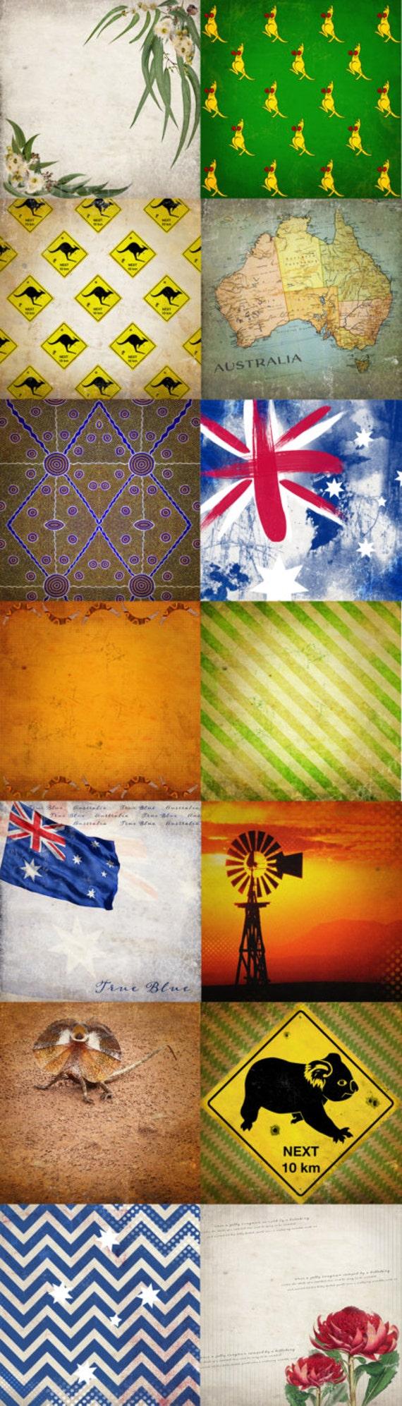 Scrapbook paper australia - This Is A Digital File