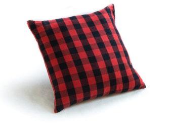"Buffalo Check Plaid Red 18"" Pillow"