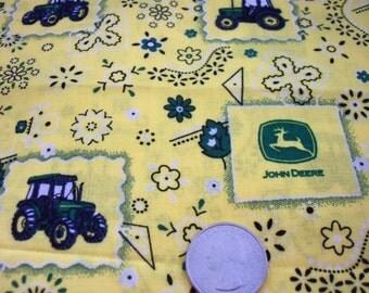 John Deere Fabric Paisley Yellow Popular Fat Quarter New BTFQ