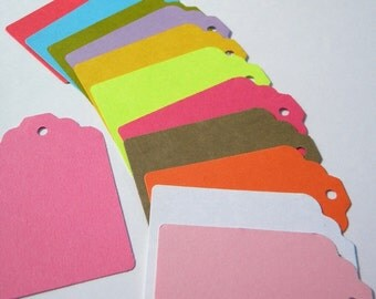 480 paper  tags - use for - colorful gift tags-  wedding tags -packaging tags - paper goods