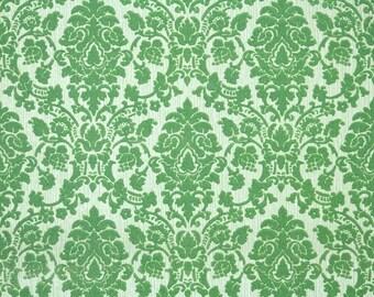 Retro Flock Wallpaper by the Yard 70s Vintage Flock Wallpaper - 1970s Green Flock Damask