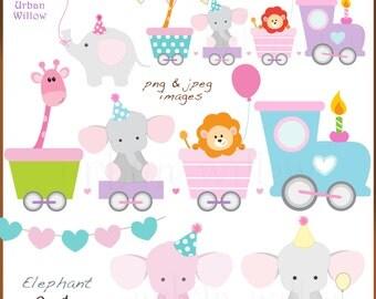 Baby Shower Giraffe Clip Art Baby train clipart   E...