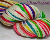 RTS Hand Dyed Bulky Weight Wool Yarn Skein-Multicolored Bulky Wool Yarn Hand Painted-Knitting Supplies-Crochet Supplies-Hand Dyed Wool Yarn