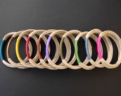 Wholesale, 10 Multicorod Mix and Match Fiber Bangles, Friendship Bracelets, Mixed Colors, Boho Style