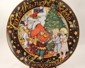 Twas The Night Before Christmas Mary Engelbreit Christmas Plate By Danbury Mint