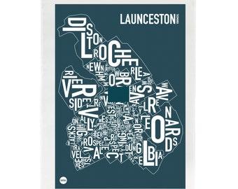 Launceston Type Tea Towel