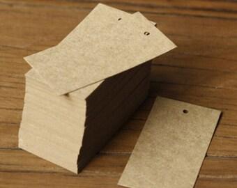 100 Blank Cards / gift tag  // Flat Blank Cards/ Kraft note card/Kraft tag