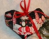 Christmas Penguins and Peppermint Heart Sachet