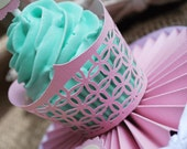 Lattice Cupcake Wrappers In your choice of color Qty 12