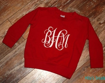 Monogram Sweatshirt { T O D D L E R } Pick Your Colors