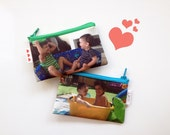 Customized kids Photo wallet gift idea , personalized coin purse with photo of your kids your baby yourself or your family