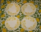 WINDSONG Bread and Butter PLATES 4 in Sunny YELLOW by J G Meakin - Royal Staffordshire Ironstone Made in England