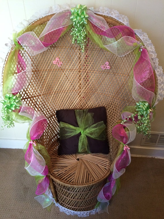 baby shower wicker chair for sale vintage retro wicker peacock chair