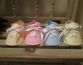 Baby Shoes in Pastels Set of 12