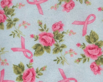 Pink Roses & Ribbons! Flannel by the yard