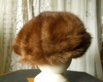 Vintage Fur Hat Deborah Excluive Fur Hat Women's Vintage Accessories Retro Vintage Hat