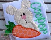 Easter Shirt or Bodysuit for boys -- Carrots & Cream -- Easter Bunny bodysuit or shirt in cream, coral, orange, emerald, and mint