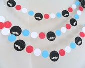 Little Man Decor- 1st Birthday Decor- Its a Boy Decor - Baby shower Decorations - Mustache Bash-Your Color choice