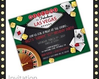 Casino Party Invitations - Lucky Draw . Casino Birthday Invitation, Casino Event Invitation, Casino Invite, Printable Casino Invitation
