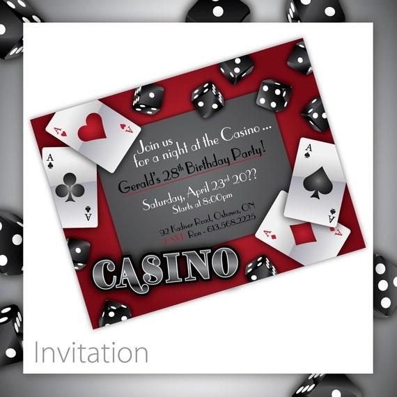 Free Casino Invitations Printable