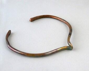 Flame Colored Copper Wire Cuff