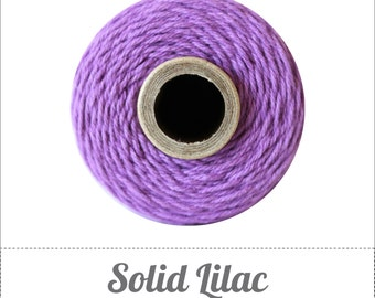 SALE 100% Cotton Twine Lilac Bakers Twine The Twinery 240 Yard Spool Solid Lilac Purple Twine