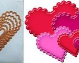 CLASSIC SCALLOPED HEARTS Set of 6 Nestabilities by Spellbinders - S4-137