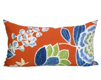 Sulu lumbar pillow cover in Coral