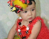 Mickey mouse hair bow