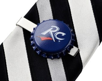 RC Cola (R) Bottle Cap Tie Clip - Tie Bar - Tie Clasp - Business Gift - Handmade - Gift Box Included