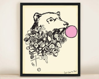 Senor Sweetie Bear A3 Print