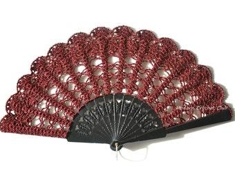Carnival Lace Fan- Folding Hand Fan- Hand Held Fan- Gift for Her- Gift under 50- Spanish Wedding Fan- Halloween Costume- Mother Of The Bride
