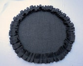 Gray Burlap Placemats Many Colors Available Round Burlap Placemats Industrial Chic Home Decor Modern Rustic Tables